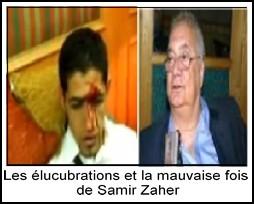 Les élucubrations et la mauvaise fois  de Samir Zaher  (Ph. montage Mots de Tête d'Algérie)
