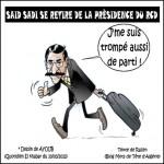 Said Sadi quitte la présidence du RCD