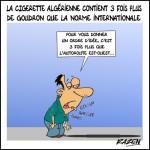 La cigarette algérienne contient 3 fois plus de goudron que la norme internationale