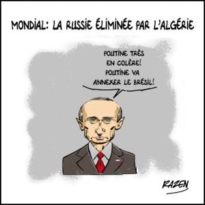 Mondial 2014: La Russie éliminée par l'Algérie