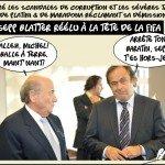 + Malgré les scandales de corruption et les sévères tacles de Platini et de Maradona, réclamant sa démission Sepp Blatter réélu à la tête de la Fifa
